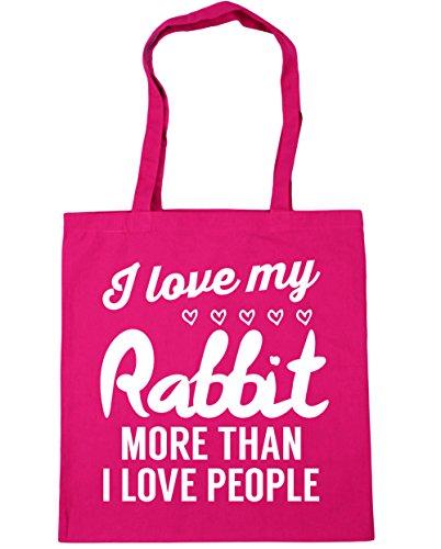 Gym Bag Shopping rabbit love Beach 10 x38cm than love HippoWarehouse Fuchsia I more Tote people 42cm my I litres xOwnqRgP