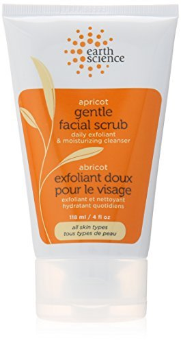 Apricot Gentle Facial Scrub, 4 Ounce (Pack of 3)