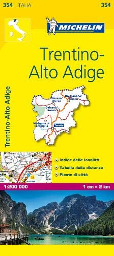 Michelin Map Italy: Trentino-Alto Adige 354 (Maps/Local (Michelin)) (Italian Edition)