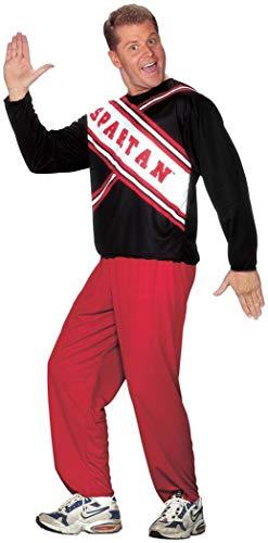 Cheerleader Spartan Guy Plus Adult Jacket Size 48-52