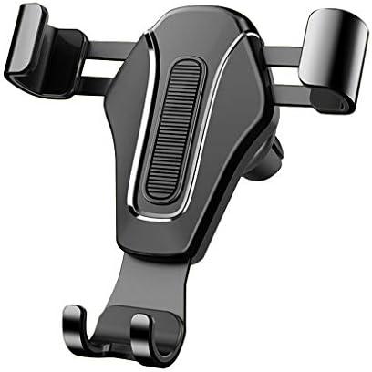 車の電話ホルダー吹き出しメタルカー携帯電話重力ブラケット (色 : 黒)