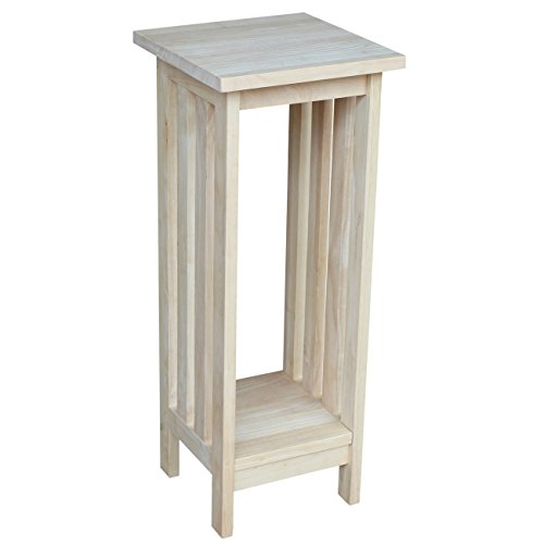 Unfinished Wood End Table (International Concepts 3070 30-Inch Mission Plant Stand, Unfinished)