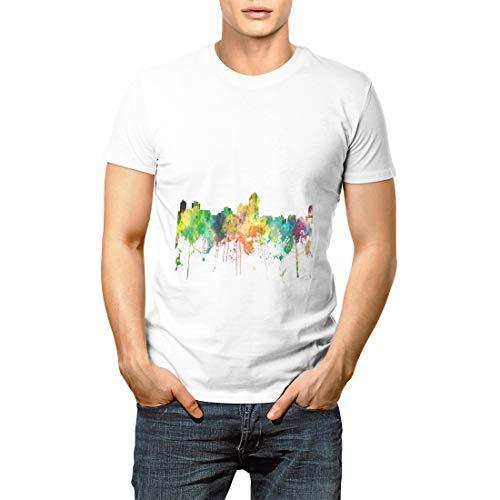 United Albuquerque Nm Skyline States Skylines City Men's Short Sleeve T-Shirt]()