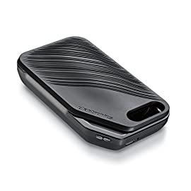 Plantronics Voyager 5200 Portable Power Charging Case - Black 5 Extra Power: Provides 14 extra hours of power (two full back-up charges). 2-in-1 Portable Charging: Recharge the headset inside the case or use the case as a convenient desktop docking stand. LED Status: Separate LEDs show hi-med-low for case and headset.