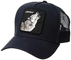 Wolf is a curved baseball in cotton canvas with an embroidered animal patch.