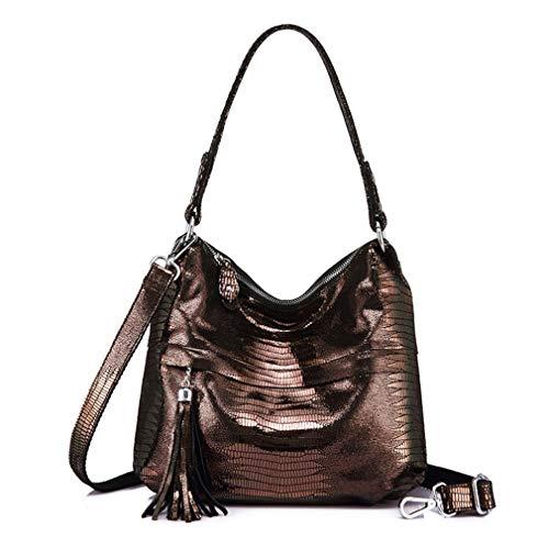 Anti Women Shoulder Handbag Messenger Hobos Tassel Bags Brass xq8vw6YqR