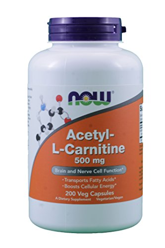 Now Foods Acetyl-L Carnitine 500 mg – 200 Vcaps