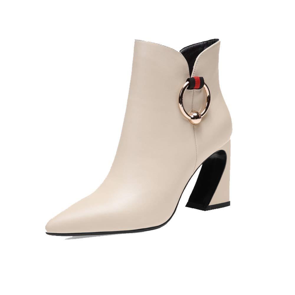 ZPEDY Chaussures pour Femmes, Pointues, Et Talons Hauts, Glissière Beige 18107 Latérale, Mode, Confort, Europe Et Amérique Beige 7b1c52e - shopssong.space