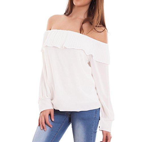 Toocool - Camiseta de manga larga - para mujer Bianco