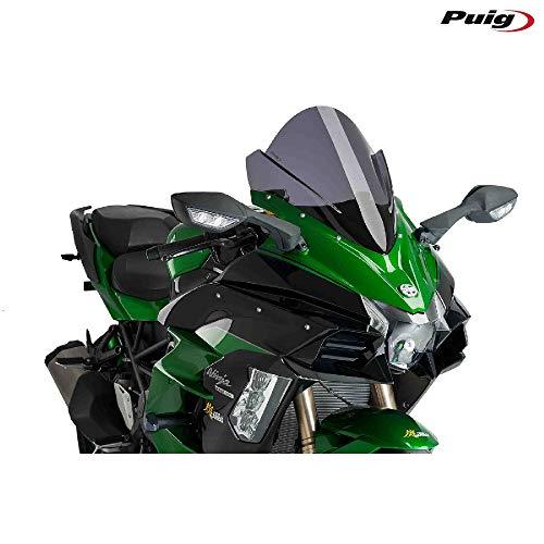 (Puig 18 Kawasaki NINJA-H2SX Racing Windscreen (15mm Higher Than OEM) (Dark Smoke))