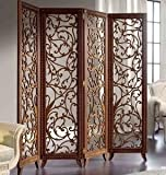 Crafts A to Z Wooden Partitions Wood Room Divider Partition for Living Room 4 Panels Room Dividers and Partitions Modern Room Separators Screen Panel for Home & Kitchen to be placed in Zig-Zag