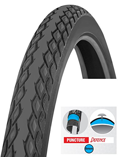 Biria Tire Bicycle, Street 26 X 1.5 Inch Puncture Resistant 5mm, Puncture Guard, Thorn Resistant, Comfortable Ride, Hybrid Bike Tread tire