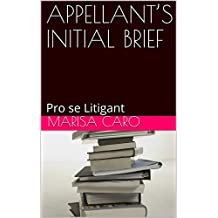 APPELLANT'S INITIAL BRIEF: Pro se Litigant