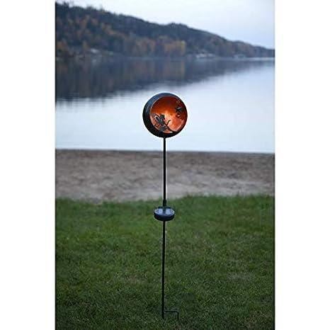 LED SOLAR Hänger AMBER Solarleuchte Gartenleuchte mit 1 AMBER LED mit SOLARPANEL