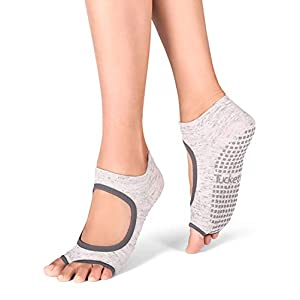 Tucketts Allegro Toeless Non-Slip Grip Socks, Recycled Cotton, Made in Colombia