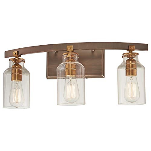 Minka Lavery Wall Light Fixtures 3553-588 Morrow Wall Bath Vanity Lighting, 3-Light 180 Watts, ()