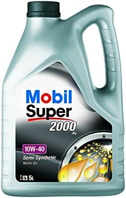Mobil 1 151187 Aceite para Motor Mobil SUPER2000 X1 10W40 5 litros ...