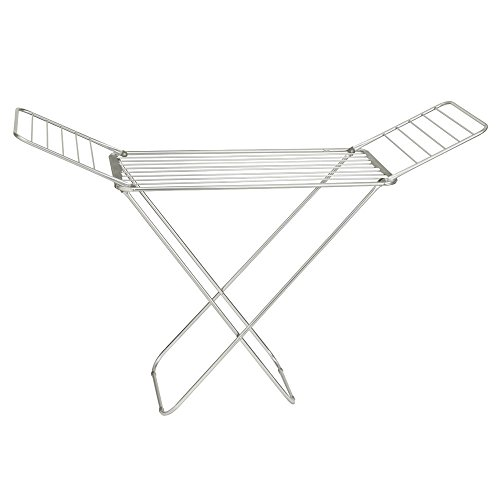 InterDesign Brezio Expandable Aluminum Clothes Drying Rack f