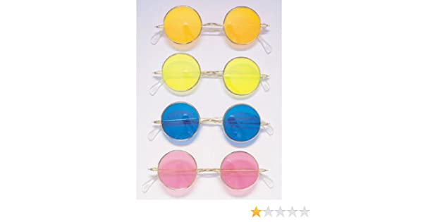 Gafas Hippie Con Cristales De Colores Surtidos (Rubies 1761): Amazon.es: Juguetes y juegos