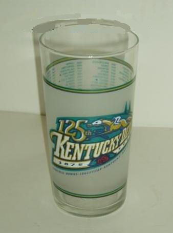 1999 125th Kentucky Derby Triple Crown Horse Racing Glass - Churchill Downs Run for the Roses
