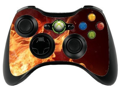 Various Fire Flames Xbox 360 Remote Controller/Gamepad Skin / Vinyl Cover / Vinyl Xbr24 ()