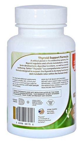 #1 Natural Thyroid Support with Iodine Supplement for Energy Metabolism Boost 60 Tablets