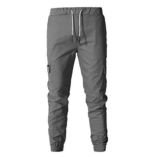 Pour Ceinture Survêtement Avec Foncé Jogging Poches Gris Cargo Joggers Élastique Homme De Sport Pantalons Activewear P4qaw