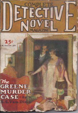 COMPLETE DETECTIVE NOVEL Magazine: January, Jan. 1928 (