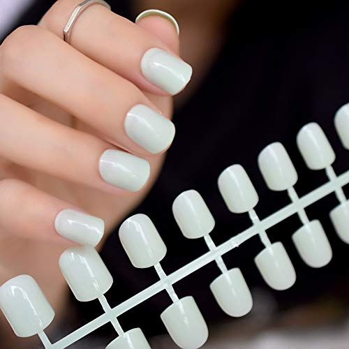 Amazon.com : 24Pcs False Nail Art Tips Full Cover Fake Nails Decoration Patch Manicure Tips Accessory Pearl White Pink Purple For Daily 1 set4 : Beauty