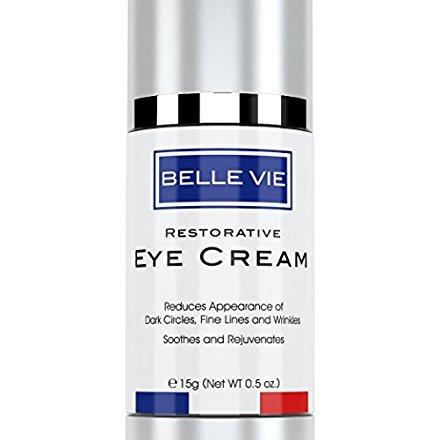 Belle Vie Restorative Eye Cream   Luxury Eye Cream   Advanced Vitamin K + Arnica Formula for Reducing Dark Circles, Puffiness, Fine Lines & Wrinkles   Soothes, Refreshes & Rejuvenates Skin