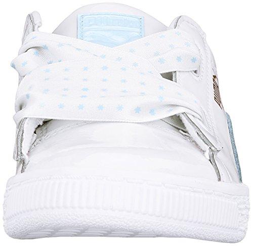 Puma Gold Stars Heart Basket cerulean Niñas Ps metallic Para Zapatillas puma White Blanco HqgpCHwS