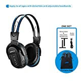 SIMOLIO 1 Pack of Vehicle Headphone, Support Car DVD Player, Car Headphone for Rear Entertainment System, Durable and Flexible for Kids, Wireless Infrared Headphone with 3.5mm AUX Cable