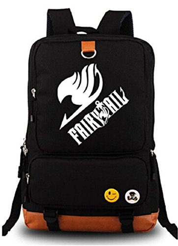 Gumstyle Anime Fairy Tail Luminous Large Capacity School Bag Cosplay Backpack Black and Blue (Cool Fairy Tail)