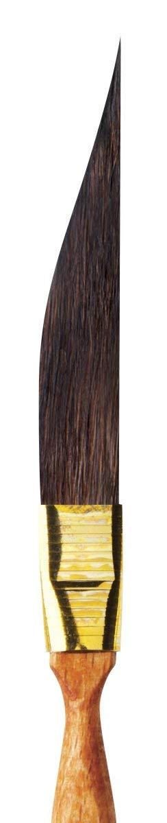 da Vinci Graphic Design Series 701 Pinstriping Brush Size 0 Straight Sword-Shaped Kazan Squirrel Hair with Cedar Imitation Handle