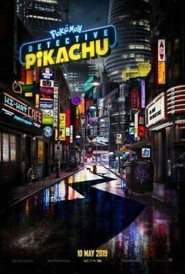 Amazon Com Pokemon Detective Pikachu 2019 Original Authentic Movie Poster 27x40 Double Sided Ryan Reynolds Justice Smith Kathryn Newton Everything Else