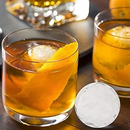 Molde de silicona para cubitos de hielo, 4 agujeros, grande para la fabricación de bolas de hielo con un diámetro de 5,5 cm, forma de bola de hielo para whisky, cócteles y cerveza