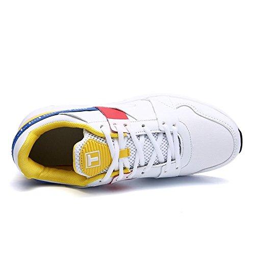 con Piatto per White Corsa Uomo Uomo da Tacco Sportive Cricket Yellow Sneaker da da Scarpe Scarpe qXBpx0wx