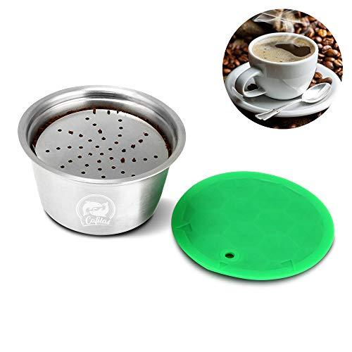 OurLeeme Cápsula Reutilizable de café, Cápsulas Reutilizable para Dolce Gusto, taza de filtro de café reutilizable de…