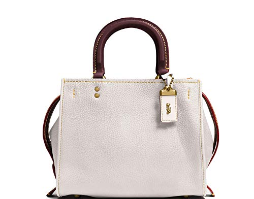 COACH Glovetanned Pebble Leather Rogue Bag 25 Ol/Chalk One Size