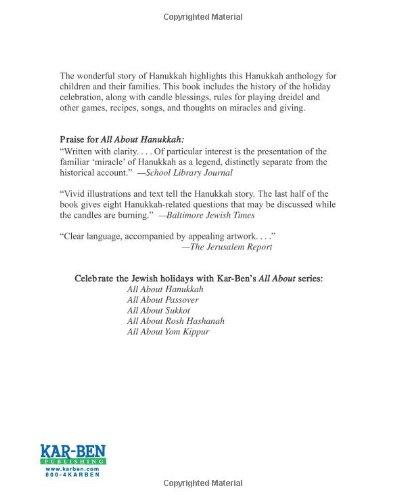 All About Hanukkah Madeline Wikler Judyth Groner 9781580130516