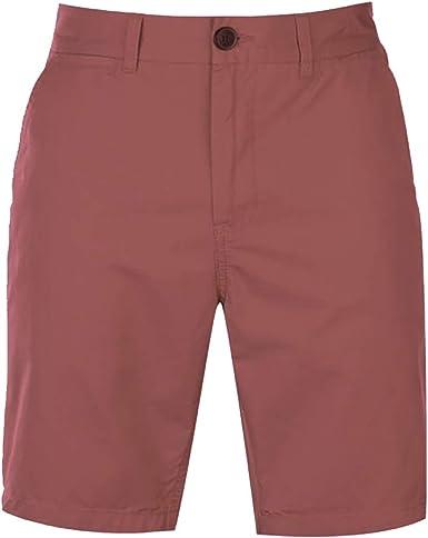 Pierre Cardin Hombre Pantalones Cortos Clásicos Chino 100% Algodón con 5 Bolsillos Botón y Cierre de Cremallera Button: Amazon.es: Ropa y accesorios