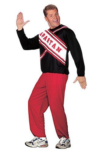 Mememall Fashion Saturday Night Live Male Spartan Cheerleader Adult Halloween Costume (Evil Cheerleader Dress)