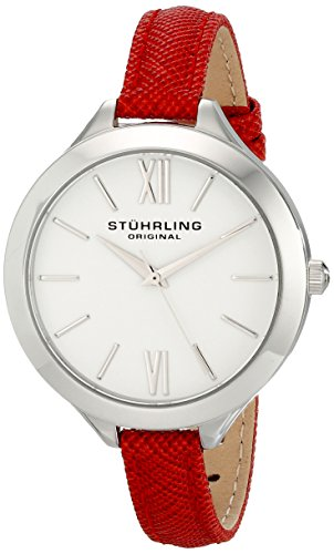 Amazon Lightning Deal 87% claimed: Stuhrling Original Women's 975.02 Vogue Analog Display Quartz Red Watch
