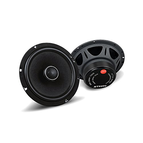 HiVi - NT600C - Car Audio Speakers - 6.5'' High Performance Woofer - High Resolution Sound - 50W RMS - Full Range Car Speakers - Two Way Car Audio Coaxial (0.75' Diaphragm)