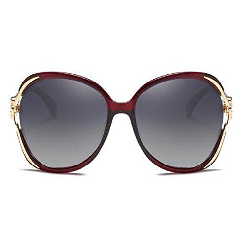 Gafas Protección Marea Brown Polarizadas Redonda Cara De Purple UV Sol Sol Señoras Gafas LQQAZY De Gafas fdqAxq