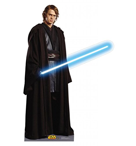 [Anakin Skywalker - Star Wars Prequel Trilogy - Advanced Graphics Life Size Cardboard Standup] (Jedi Costume Images)