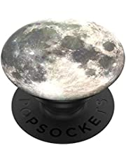 PopSockets PopGrip: Phone Grip and Phone Stand, Collapsible, Swappable Top, Moon