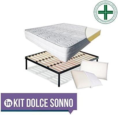 INmaterassi – Kit Dolce Sonno con colchón en Memory Foam y ...