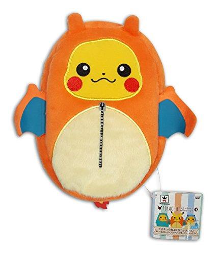Banpresto 36759A Pokemon Kanto Starter Evolution Nebukuro Zipper Pouches Pikachu in Charizard Sleeping -
