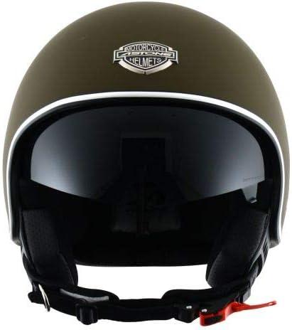 Casque style r/étro US Astone Helmets matt black Minijet 66 Casque de moto en polycarbonate Casque jet vintage